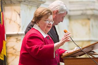 U.S. Sen. Barbara Mikulski said she wanted to see a plan for revising the state's Medicare waiver by Thanksgiving.