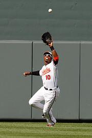 Adam Jones is well-known for his bubble-gum chewing ways.