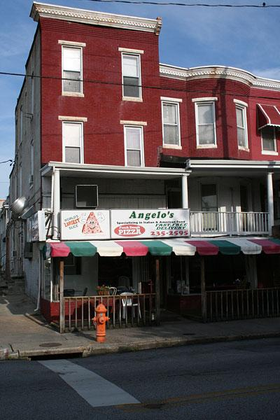 Angelo's Pizza in Hampden is known for its giant slices.