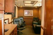 Mobile hospitality suites offered by Baltimore Grand Prix organizers include high-definition TVs, stadium seating, patios, decks, kitchenettes and bathrooms. They rent for about $60,000 for a 50-person suite.