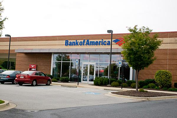 Bank of America is the largest bank in the Baltimore area.