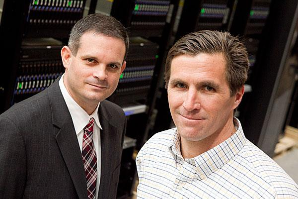 CyberCore Technologies' Chris Mills (left) and Carter W. W. Smith.