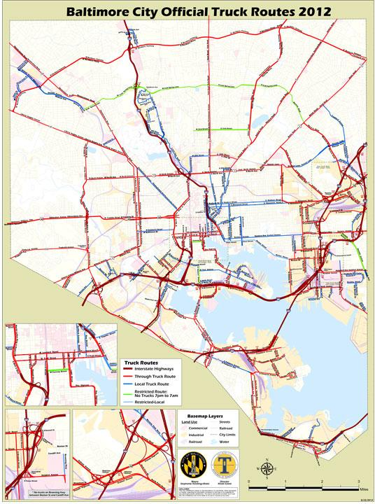 Baltimore city has finalized a map outlining approved routes for trucking companies.