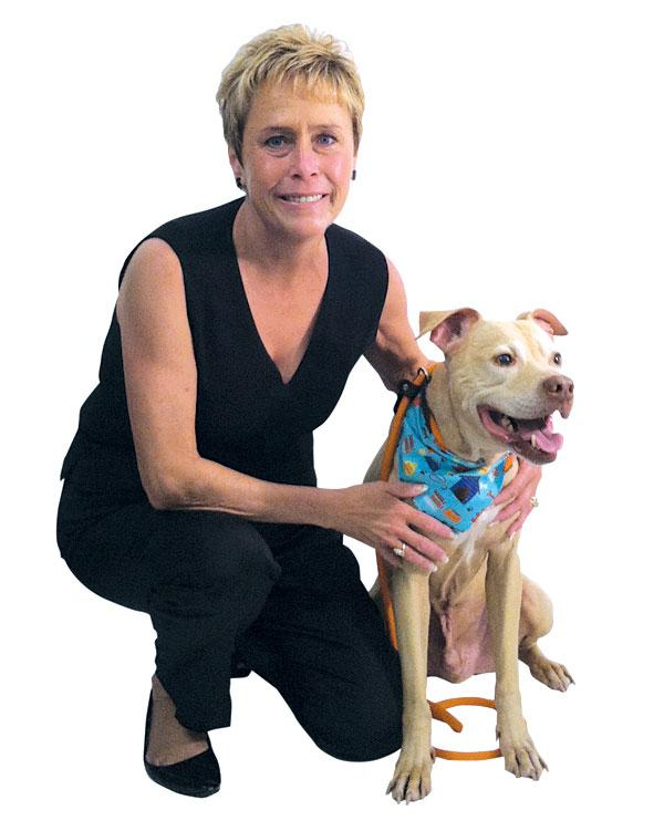 Kelly Cullum, owner of Best Friends Fur Ever, and Chance.