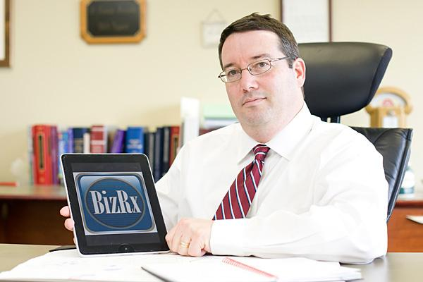 Eliot Wagonheim's law firm launched its BizRx mobile app last year.