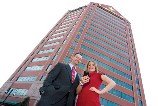 First Mariner's Wade Barnes, director of electronic banking, and Erica Barry,  director of digital marketing.