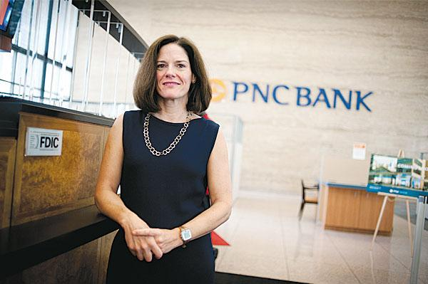 Laura Gamble, PNC's Greater Maryland regional president, has said that building relationships with area schools is a key part of the bank's growth strategy.