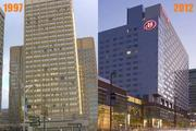 Largest hotel: 1997: Omni Inner Harbor Hotel (now the Sheraton Baltimore City Center), 709 rooms 2012: Hilton Baltimore, 757 rooms