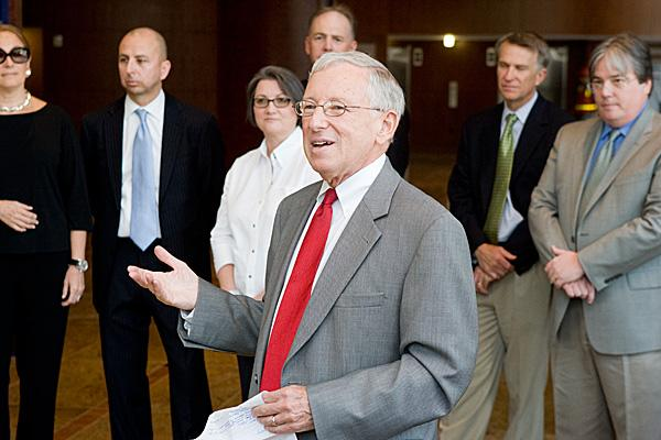 """M.J. """"Jay"""" Brodie's last day as president of the Baltimore Development Corp. is Friday."""