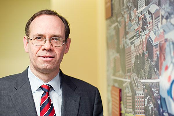 James L. Hughes oversees R&D at the University of Maryland, Baltimore.