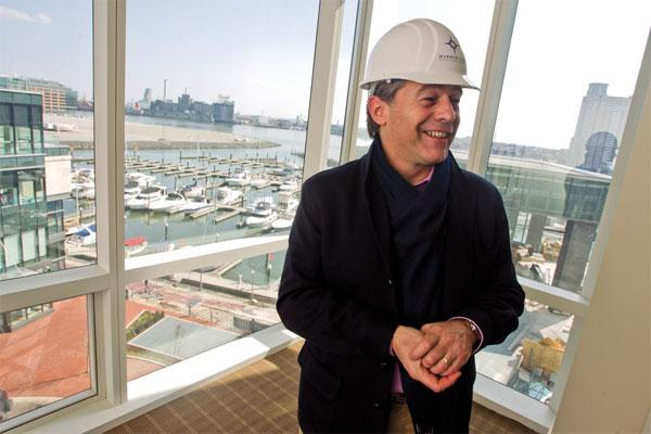 Four Seasons Baltimore GM Julien Carralero, seen here in this 2011 photo when the hotel was still under construction.