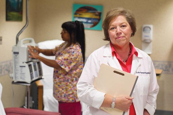 Lois Kemple has pursued degree after degree in her 33-year nursing career, culminating in her nurse practitioner designation last month.