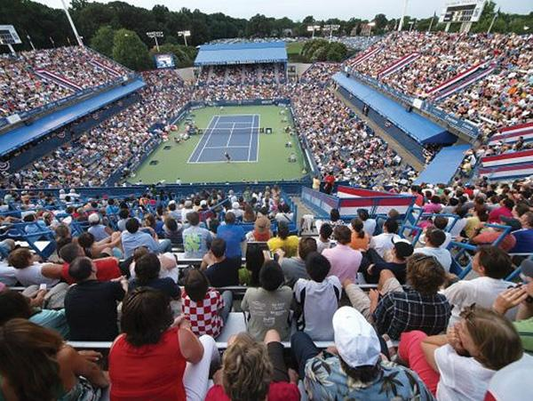 Spectators watch the action on the court at a previous year's Legg Mason Classic. Known as theCiti Open since last year, the District's annual professional tennis tournament is slated to begin July 27.