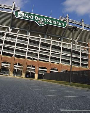 M&T Bank Stadium, home of the Baltimore Ravens, holds 71,000 fans.
