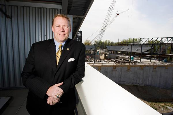 Mike Waddell's teams at Towson University will soon play in a new arena.