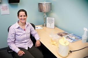 Monica Pasko uses University of Maryland, Baltimore's lactation room.