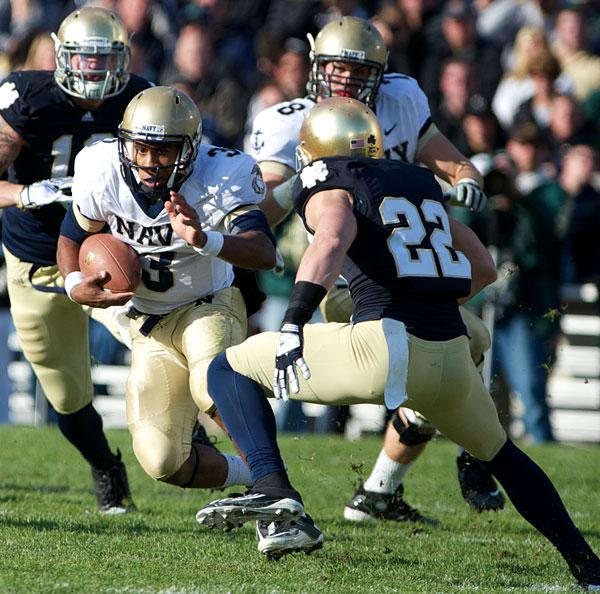 Navy and Notre Dame have been playing football annually since 1927.