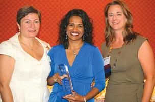 Cidalia Luis Akbar, president of M. Luis Construction and 2011 Woman of the Year; Alyce Dailey, principal at Re/Max American Dream and 2012 Woman of the Year; Janine DiPaula Stevens, CEO, Vircity.
