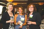 Linda Cromwell, president, Being There Senior Care; Stacia Cuthie, agent, Insurance Incorporated; Tammy Schneider, CPA, Glass Jacobson.