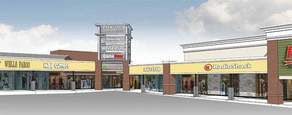 A rendering of what the Parkville Shopping Center is supposed to look like once its $2 million renovation is finished.
