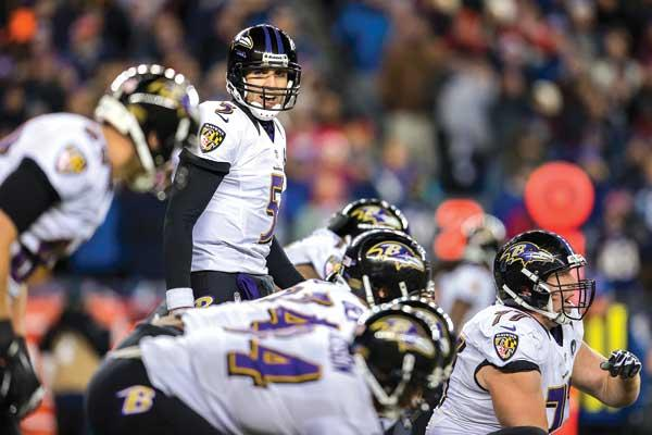 Ravens Quarterback Joe Flacco is a spokesman for First Mariner Bank.
