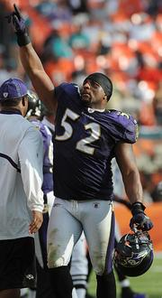 Baltimore Ravens linebacker Ray Lewis had the third highest-selling jersey on NFLShop.com in his last year in the league.
