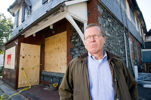 Rob Frisch said a good insurance policy will enable him to rebuild.