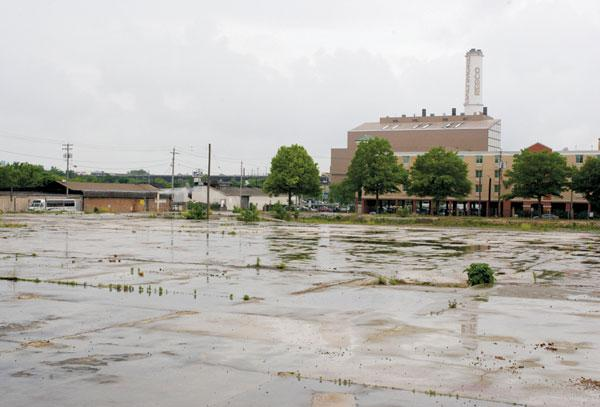 This is the plot of land along Russell Street in Baltimore where Maryland Chemical Co. and other industrial businesses stored hazardous chemicals.