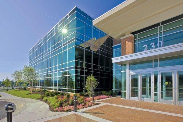 Merritt Properties' Schilling Square Class A office building in Hunt Valley is LEED Platinum certified.