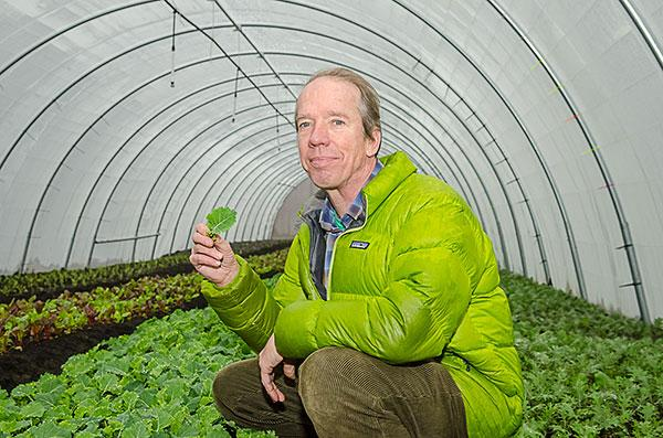 Ted Rouse is aiming for $450,000 in annual revenue for Big City Farms.