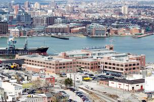 Under Armour's Tide Point headquarters used to be a Procter & Gamble soap factory.