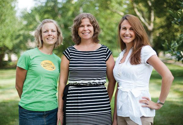From left, Chrissa Carlson, Ellen Frost and Christine Varney decided they could make money off of being environmentally friendly.