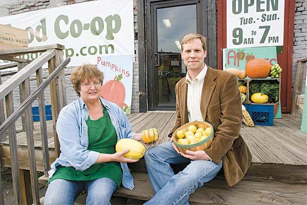 Cheryl Wade and Bill Wells, of the Baltimore Food Co-op, opened their city store this summer.