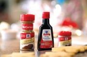 Scenes from McCormick's new holiday television ads. The emphasis is on baking.
