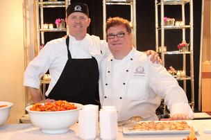 Executive chef Greg Rhoad and chef Jerry Edwards, both of Chef's Expressions Catering.