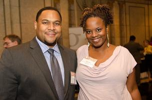 Antre Lewis, district manager, ADP; Nikki Lewis, owner, The Mallow Bar/Mallow Crunchies