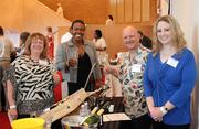 July Pollinger, American Cancer Society volunteer; Teonna Lonon, Tax Associate at Ernst & Young; Alphonso Ventrice, Vignobles LVDH wine importers; Jessica Boyle, American Cancer Society volunteer