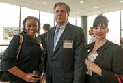 Nita Young, general manager, Regus; Martin Copsey, president and COO, Mackenzie Contracting Co. LLC; and Cassie Eckenrode, general manager, Regus.