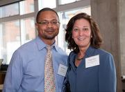 Keith Brown, business development manager, Kim Engineering; Peggy White, principal, Axiom Engineering Design.