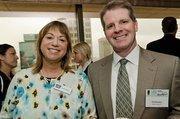 Molly Simpkins, community development director, American Cancer Society; Jim Mackrell, vice president, AON Hewitt