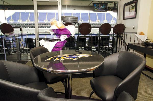 The Baltimore Ravens have sold out their 125 luxury boxes at M&T Bank Stadium for nine consecutive years.