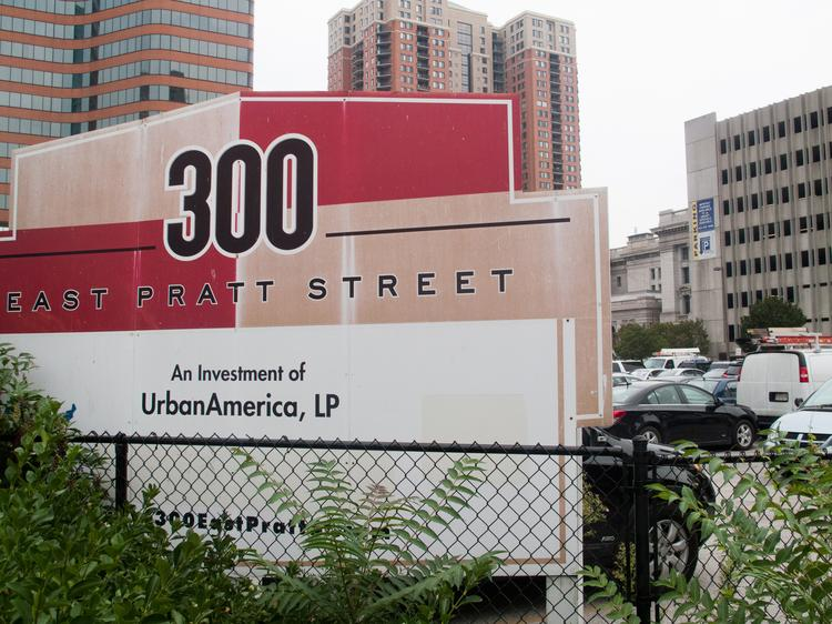 Marketing materials suggest 300 E. Pratt St. could be in line for a Payment in Lieu of Taxes to incentivize development at the long-vacant site.