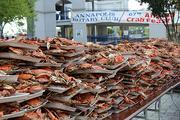 The Rotary Club of Annapolis will hold its 68th annual Crab  Feast on Aug. 2 at Navy-Marine Corps Memorial Stadium in Annapolis.    The event is dubbed as the the world's largest crab feast and is a major fundraiser for the local community. Nearly 2,500 people are expected to attend and finish off 320 bushels of  crabs, 3,400 ears of corn, 100 gallons of crab soup, 1,800 hot dogs,  150 pounds of beef barbeque, and hundreds of gallons of soft drinks and  beer.
