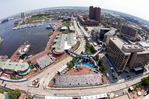 The 2013 Grand Prix of Baltimore is set to run Aug. 30-Sept. 1. Above, a shot of the 2012 event.