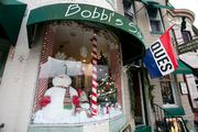 Forget the village. Frosty the Sowman went down to The Avenue and Bobbi's Salon in Hampden this year.