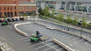 Workers on Tuesday started construction of pit row outside the old B&O Warehouse at Camden Yards.       The Grand Prix of Baltimore is set for Aug. 31-Sept. 2.
