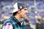 Olympic gold medalist, and Baltimore native, Michael Phelps took in the pregame action from the Ravens sideline.Photo by:Nicholas Griner | Staff