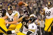 The Ravens sacked Pittsburgh quarterback Charlie Batch twice on Sunday. But Batch led a fourth-quarter comeback to put the Steelers on top.Photo by:Nicholas Griner | Staff