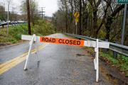 Baltimore: River Road, along the Patapsco River in Catonsville, was closed on Tuesday due to flooding in the wake of Hurricane Sandy.