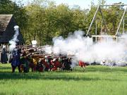 The Militia Muster in historic St. Mary's City is Sept. 28. The reenactment event by the St. Mary's Militia includes musket fire demonstrations, mock battles and fencing.